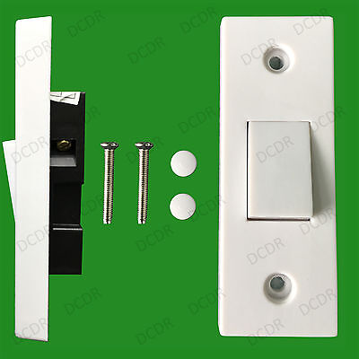 £0.99 • Buy 1 Gang 2 Way 10A White Architrave Light Rocker Wall Switch BS60669-1 Compliant