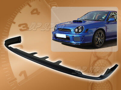 $107.95 • Buy For 02-03 Subaru Impreza Wrx Pro Style Front Bumper Lip Body Spoiler Kit Pu