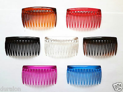 Plain Hair Combs Clear Slides Side Combs Plastic Sidecomb Pkt9 Hair Comb Quality • 3.74£