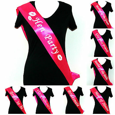 £1.54 • Buy Bride To Be Sashes Pink Hen Party Night Sash Accessories Bridesmaid Wedding ML