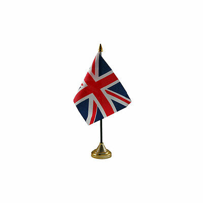 Union Jack British Table Desk Flag - 10 X 15 Cm National Country Hand Europe • 3.57£