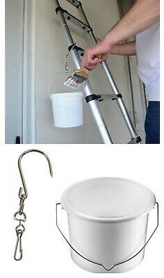 Paint Kettle Plastic Bucket Pot Or Can Ladder Swivel Hook Holder Painters Tool  • 7.99£