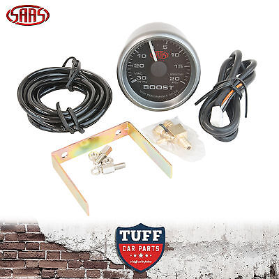 AU60 • Buy SAAS Turbo Boost Vacuum Gauge Black Face Dial 52mm Multi Colour + Fitting Kit