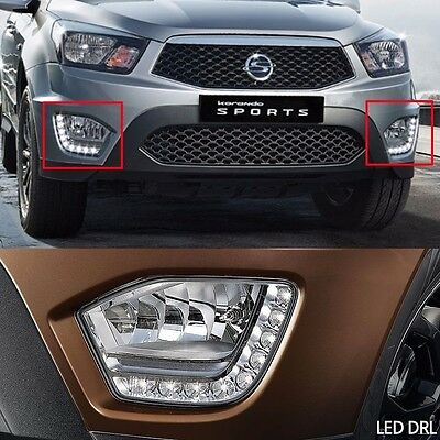 AU644.99 • Buy Fog Lamp Led DRL Assy For Ssangyong Korando/Actyon Sports 2016 Oem Parts X 2EA