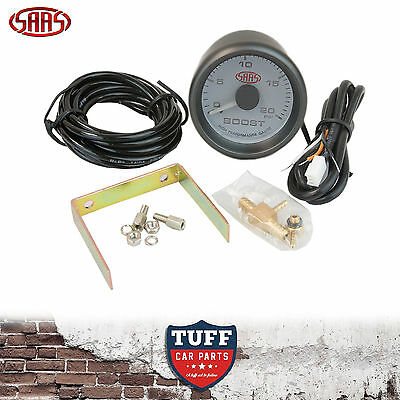 AU60 • Buy SAAS Turbo Diesel Boost Gauge White Face Dial 52mm Multi Colour + Fitting Kit