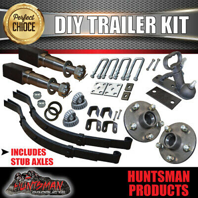 AU190 • Buy Diy Single Axle Trailer Kit. 1000kg Rated. Stub Axles. Sg Cast Hubs!! Boat