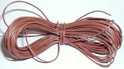 Model Railway/Railroad Layout/Point Motor Wire Etc 1x5m Roll 7/0.2mm 1.4A Brown • 1.89£