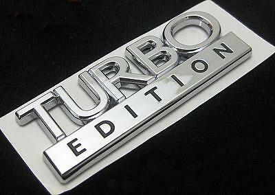 SAAB TURBO EDITION CHROME BADGE BRAND NEW GENUINE EMBLEM 9-3 9-5 TiD TTiD • 6£