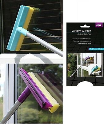 Window Cleaner Wiper Wash & Wipe Squeegee Mop Telescopic Extendable Pole 20-041 • 6.95£