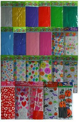 £1.49 • Buy CELLOPHANE PARTY (Loot) BAGS - Solid Colours & Patterns/Themes {fixed £1 UK P&p}