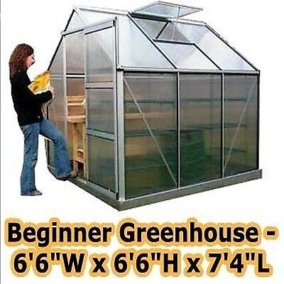 Greenhouse - 6'6  W X 6'6  H X 7'4  L - Beginners Kit - Backyard - Commercial • 1,510.95£