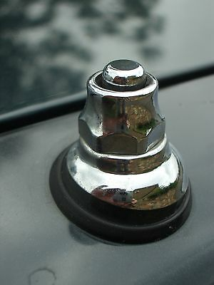 £4.95 • Buy Aerial Antenna Chrome Inox Top Nut Fittings Classic Car Oldtimer Ford MG BMW