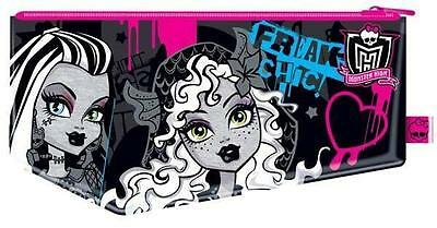 Kids Childrens Girls Monster High Large Flat Pencil Case School Stationery Gift • 2.49£