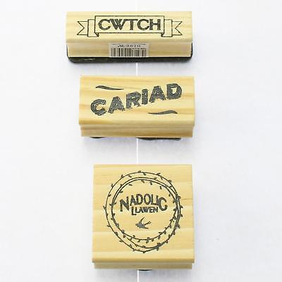 East Of India Craft Rubber Stamp IKit - Welsh Language • 5.99£