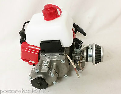 Eng37 49cc 2 Stroke Drift Trike Engine With Pull Start, Fuel Tank Air Filter • 59.99£