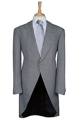 £59.95 • Buy Mens Silver Grey Wool Blend Ex Hire Tailcoat Wedding Morning Dress Suit Tails