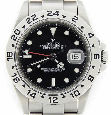 $ CDN10000.05 • Buy Mens Rolex SS Stainless Steel Explorer II Date SEL  No Holes  40mm Black 16570T