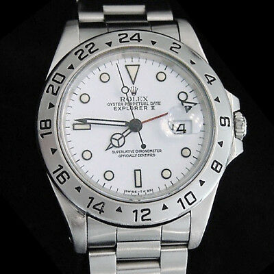 $ CDN9473.73 • Buy 1990's Mens Rolex Stainless Steel Explorer II Date Watch 40mm W/White Dial 16570
