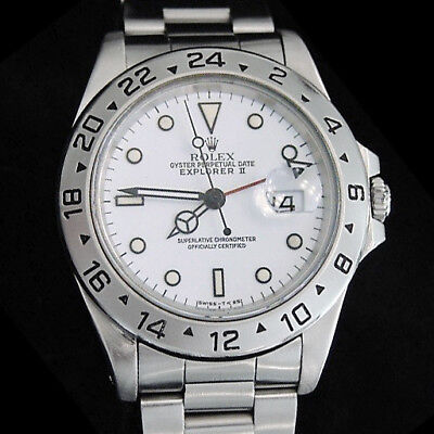 $ CDN9065.36 • Buy 1990's Mens Rolex Stainless Steel Explorer II Date Watch 40mm W/White Dial 16570