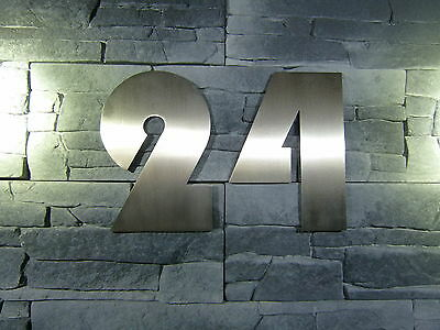 House Number Stainless Steel 200mm Font Type Bauhaus Metal Masive Run Led • 10.96£