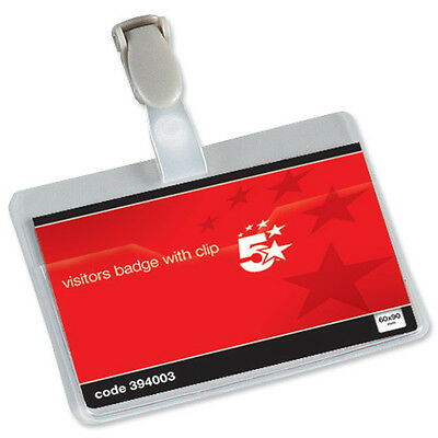 Conference Name Visitor ID Badges With Clip Landscape 60mm X 90mm - 394003  • 52.99£