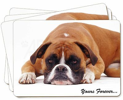 Boxer Dog 'Yours Forever' Picture Placemats In Gift Box, AD-B28P • 24.98£