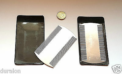 Metal Nit Comb Head Lice Comb Dectection Durable Double Sided Comb Kids Pet X 2 • 3.99£