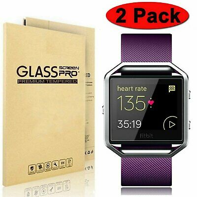 $ CDN8.82 • Buy 2-Pack Premium Tempered Glass Screen Protector For Fitbit Blaze Smart Watch