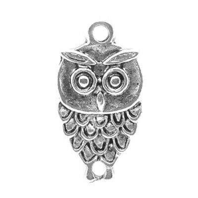 Owl Charm/Pendant Tibetan Antique Silver 18mm  15 Charms Accessory DIY Jewellery • 2.09£
