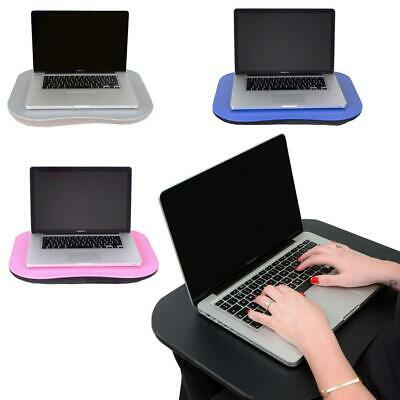 Laptop Tray Lap Desk Cushioned Portable Computer Reading Writing Table Sofa Bed • 14£