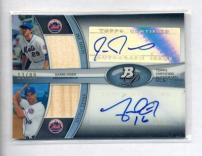 $19.99 • Buy Ike Davis & Angel Pagan 2011 Bowman Platinum Dual Auto Bat #13/89