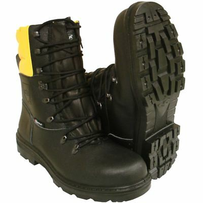 Chainsaw Forestry Boots Black And Yellow Aborist COFRA Class 1 Size 10.5 Euro 45 • 61.49£