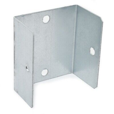 PACK OF 10 - 45mm (1.80 ) GALVANISED FENCE & TRELLIS CLIPS BRACKET PANEL FIXING • 6.99£