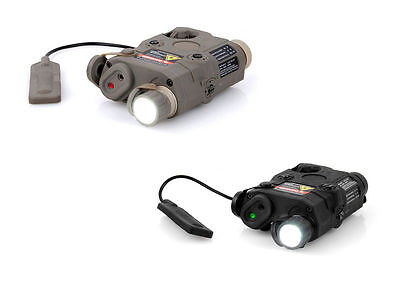 Tactical For FMA PRO-LAS-PEQ15 Dummy Red / Green Laser With Flashlight • 35.99£