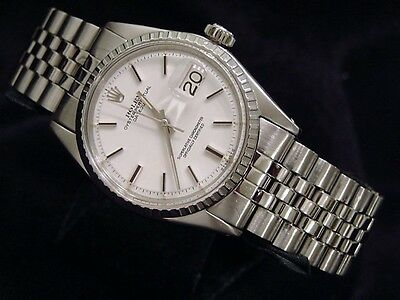 $ CDN5575.62 • Buy Rolex Datejust Mens Watch Stainless Steel With Jubilee Band & White Dial 1603