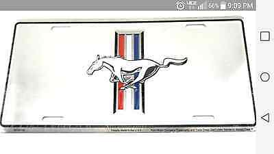 Ford Mustang 25th Anniversary Tag Id Aluminum License Plate Pony Gt Cobra Shelby • 13.34$