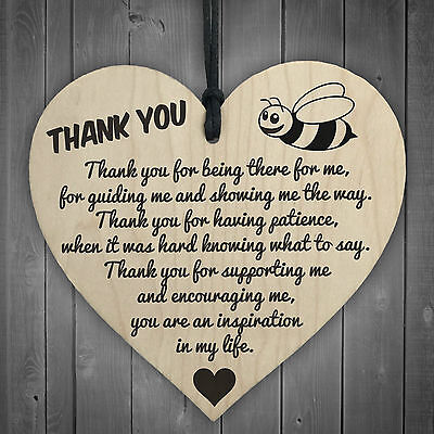 £3.99 • Buy Thank You For Being There For Me Wooden Hanging Heart Love Friendship Plaque