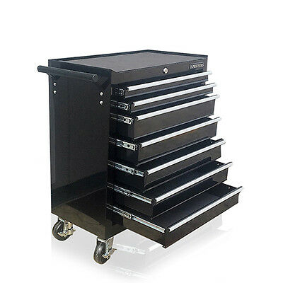372 Us Pro Black Tools Affordable Steel Chest Tool Box Roller Cabinet 7 Drawers • 99.99£