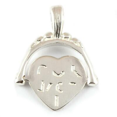 I LOVE YOU SPINNER HEART Charm / Pendant - Sterling Silver Charms • 12.99£