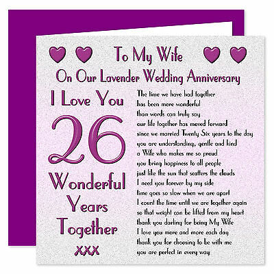 My Wife 1st - 70th Years - On Our Wedding Anniversary Card - I Love You Verse • 3.99£