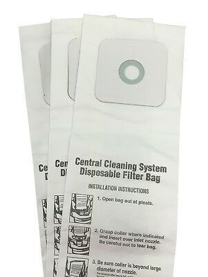 $9.54 • Buy CENTRAL VACUUM BAGS For Nutone 391, 391-8, 3918, 44186 3-Pack