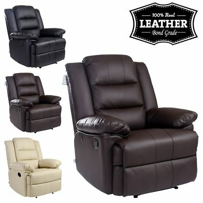 £259.99 • Buy Loxley Leather Recliner Armchair Sofa Home Lounge Chair Reclining Gaming