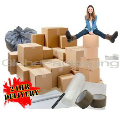 40 XL Large Cardboard ECONOMY Box House Moving Packing Removal Boxes Kit *NEW* • 26.15£