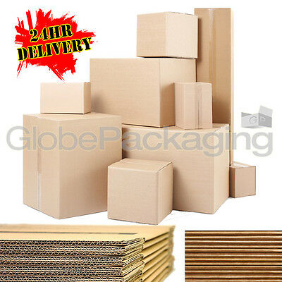 £17.95 • Buy Single & Double Wall Cardboard Postal Removal Moving Boxes - All Sizes / Qty's