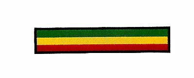 Rasta Reggae BIKER RACING FLAG PATCH Backpack BADGE IRON ON EMBROIDERED • 2.25£