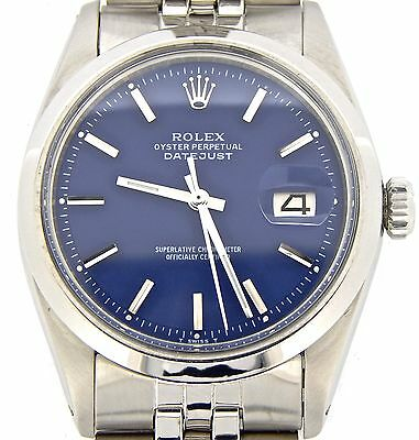 $ CDN4980.60 • Buy Rolex Datejust Men Stainless Steel Watch With Folded Link Jubilee Band Blue Dial