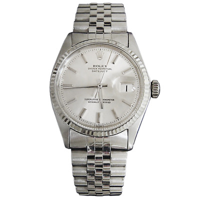 $ CDN4993.63 • Buy Rolex Datejust Mens SS Stainless Steel & 18K White Gold Jubilee Silver Dial 1601