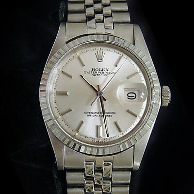$ CDN4852.89 • Buy Rolex Datejust Mens Stainless Steel Watch W/ Silver Stick Dial Jubilee Band 1603