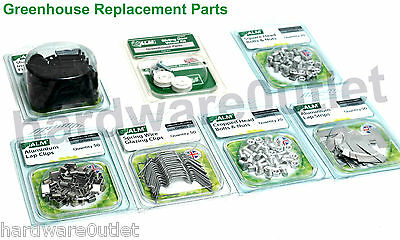 Greenhouse Replacement Fittings Square & Cropped Bolts & Nuts Clips Door Wheels • 6.33£