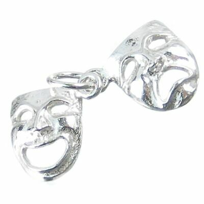£12.75 • Buy Drama Masks Sterling Silver Charm .925 X 1 Comedy Tragedy Mask Charms